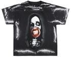 MARILYN MANSON SPLATTER DYE T-SHIRT MENS ROCK MUSIC TEE BLACK LICENSED image