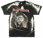IRON MAIDEN ALBUM T-SHIRT TIE DYE MENS METAL MUSIC TEE BRAVADO image