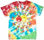 M&MS CANDY SPIRAL T-SHIRT TIE DYE MULTICOLOR PEANUT CHOCOLATE TEE MENS image