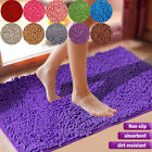 US Home Shaggy Microfiber Soft Bathroom Solid Rug Shower Bath Mats Non-Slip GIFT