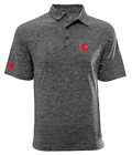 Levelwear NHL Calgary Flames Haze Insignia Wordmark Polo Medium $14.99 USD on eBay