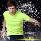Mens T Shirts Short Sleeve Shirt Cool Sports S-4XL Quick Dry Fit Round Neck image