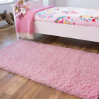 Girls Fluffy Thick Kids Shaggy Rugs Baby Pink Bedroom Rug Non Shed Cheap Mats
