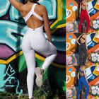 Womens Sports Set Backless Playsuit Fitness Tights Jumpsuits Yoga Suit Tracksuit