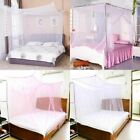 Mosquito Net 4 Corner Post Bed Canopy Single Double King Size Netting Bedding US image