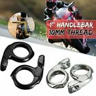 1'' Handle Bar Clamp Rear View Mirrors Adapter Mount Motorcycle ATV Scooter US image