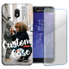 Personalized Custom Photo Image Case For Samsung Phone w/Glass Screen Protector