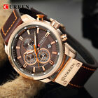 Curren 8291 Mens PU Leather Band Strap Wristwatch Sports Military Quartz Watch image