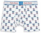 Psycho Bunny Men's White New England All Over Bunny Boxer Brief