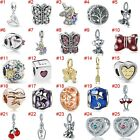 European Silver Charms Unicorn Beads Enamel Gifts CZ Pendant Fit 925 Bracelets image