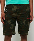 New Mens Superdry Parachute Cargo Shorts Olive Alpine Camo
