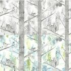 Holden Décor Squirrel Tree Metallic Nature Pastel Forest Life Wallpaper