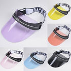 Sun Visor Hat Headband Cap Unisex UV Protection Transparent for Golf Hiking Ride