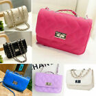 US Women's Small Crossbody Handbag Quilted Purse Bag with Chain Shoulder Strap image