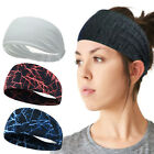 Women/Mens Wide Headband Sweatband Elastic Stretch Hair Band Sports Yoga Turban