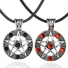 Men Good Luck Rhinestone Pentagram Star Hollow Pendant Necklace Jewellery Trendy