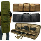 Double Padded Carbine Rifle Gun Bag Sniper Airsoft Case Lockable Multi Pockets