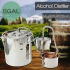 DIY 3POT 5/8Gallon Water Alcohol Wine Distiller Moonshine Still Stainless Boiler