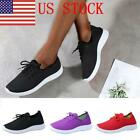 US Women Breathable Sports Running Gym Sneakers Shoes Mesh Light Bottom Shoes