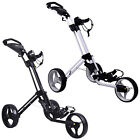 2019 PowaKaddy TwinLine 4 Trolley 3-Wheel Push Golf Cart Compact Foldable