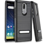 For COOLPAD LEGACY, Armor Hybrid Phone Case Cover with Stand +Tempered Glass