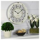 NEW FirsTime Antique Contour 10 Round Wall Clock - Distressed Ivory