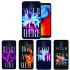Personalized Custom Effects Initials Text Name Case TPU Cover For LG Phone Skin