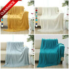 "Soft Throw Blanket Warm Knit Textured Fringe Sofa Bed Couch Blanket 50 x 60"" image"