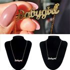 Cute Babygirl Carrie Style Necklace Letter Pendant Chain Women Fashion Jewelry
