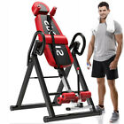 Folding Gravity Inversion Table Chiropractic Back Exercise Stretcher TherapyHome image