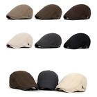 Men Fashion Solid Cotton Hat Cap for Golf Driving Summer Sun Flat Cabbie Newsboy