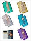 Newest 5 color Luxurious bling crystal sparkle wallet case cover skin for phone