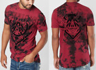 AMERICAN FIGHTER Mens T-Shirt KENDLETON Athletic RED BLACK CRYSTAL Biker UFC $40 image
