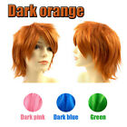 Unisex Anime Short Wig Straight Hair Cosplay Costume Party Heat Resistant Wig