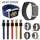 7 Color Genuine Leather Loop Magnetic Watch Band For Apple Watch Series 5 4 3 2 image