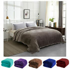 SOFT Flannel Solid Blanket King Size at Linen Plus Multi Colors image