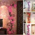 3d Flower Wall Stickers Decals Vinyl Mural Art Home Living Room Diy Decoration