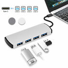 4 in 1 Aluminum USB C Type-C Hub Adapter with 4 USB 3.0 Ports for Macbook Pro PC