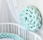 Infant Soft Braided Crib Bumper Plush Pillow Fence Sleep Bumper Bed Protection