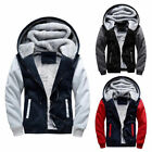 Mens Winter Warm Thick Fleece Hooded Hoodie Coat Zip Up Jacket Casual Oversize