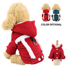 Double-layer Thickening Corduroy Pet Dog Warm Cloth Puppy Costume For Christmas