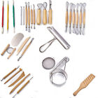 Clay Sculpting Tools Pottery Amp Ceramics Wooden Handle Modeling Tools Set image