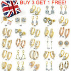 Wholesale Women Engagement Jewellery Yellow Gold Filled Cubic Zirconia Earrings