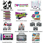 80'S CASSETTE SPACE INVADER THEME DECORATIONS - PARTYWARE COMPLETE COLLECTION