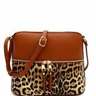 Leopard Print Front Pocket Dome Cross Body Messenger image
