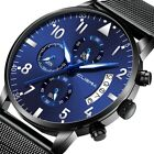 Military Men Watch Business Stainless Steel Date Sport Analog Quartz Wrist Watch image