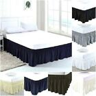 Elastic Bed Ruffles Wrap Around Bed Skirt 100% Cotton 800 TC Size King  image