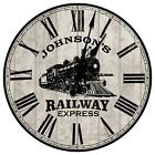 Personalized Locomotive Train Room Wall Clock from KDL