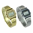 Men Luminous Digital Stainless Steel Band Electronic Watch Wrist Watches Gift image