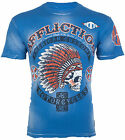 Affliction Short Sleeve T-Shirt Mens ARROW Hawaiian Ocean Blue Bleach S-3XL NWT